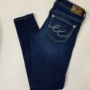 Express Jean Stella Low Rise Thick Stitch